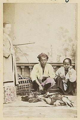 Pedagang ayam keliling di Jawa 1867 (Koleksi: www.kitlv.nl)